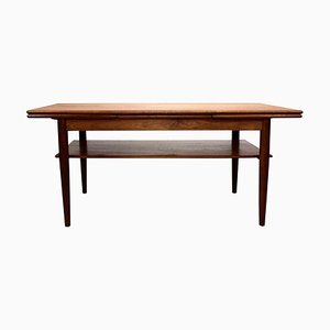 Danish Coffee Table in Teak with Extension Leaves, 1960s