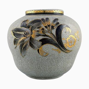 Vase in Crackled Porcelain by Oluf Jensen for Royal Copenhagen, 1929