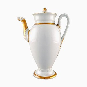 Antique Meissen Empire Coffee Pot with Gold Decoration