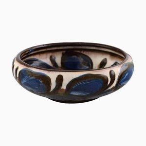Glazed Stoneware Bowl in Modern Design from Kähler, Denmark, 1930s