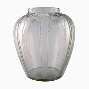 Cariatides Vase in Art Glass with Women by René Lalique, 1920s