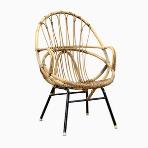 Rattan Chair from Rohé Noordwolde, 1960s