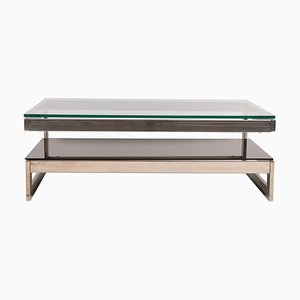 Rectangular Chrome Coffee Table from Belgo Chrom / Dewulf Selection, 1970s