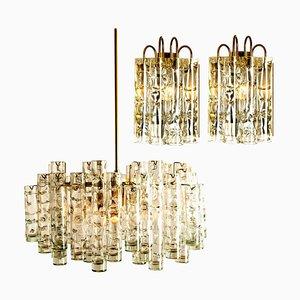 Brass Light Fixtures by Doria Leuchten Germany, 1960s, Set of 3