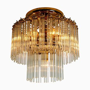 Glass Rod Waterfall Flush Mount by Gaetano Sciolari for Lightolier, 1960s