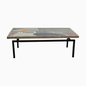 Natural Stone Mosaic Coffee Table by Paul Kingma, 1960s