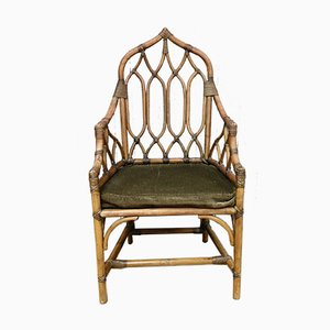 Vintage Bamboo Armchair by Angraves