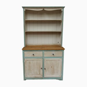 Vintage Welsh Dresser with Distressed Paint Finish