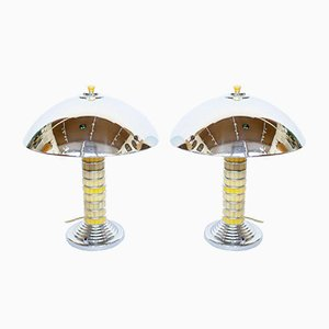 Dome Table Lamps, Set of 2