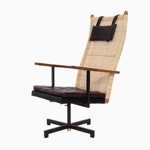 Rattan Lounge Chair by J P Muntendam for Gebroeders Jonker, the Netherlands, 1950s