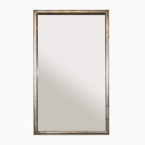 Mid-Century French Silver Leaf Mercury Glass Mirror