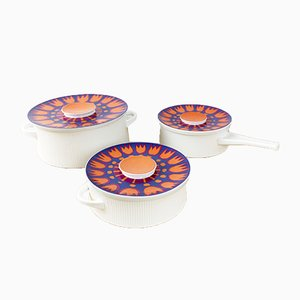 German Lidded Casserole Dishes by Richard Latham for Thomas Glas und Porzellan AG, 1960s, Set of 3