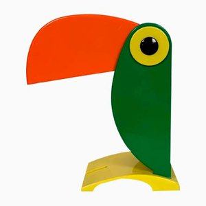 Green and Orange Toucan Table Lamp from Old Timer Ferrari, 1960s