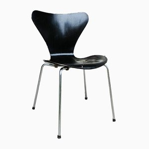 Black 3107 Dining Chair by Arne Jacobsen for Fritz Hansen, 1966