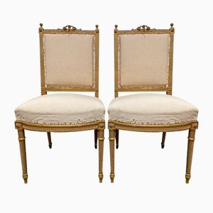 19th Century French Giltwood Chairs, Set of 2