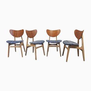 Chaises de Salon Butterfly Mid-Century par Donald Gomme pour G-Plan, Set de 4