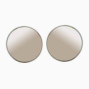 Vintage Round Mirror, 1920s