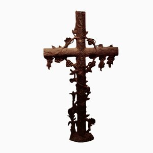 Victorian French Cast Iron Cross