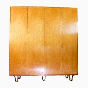 KB04 Wardrobe on Plywood Legs by Cees Braakman for Pastoe, 1960s