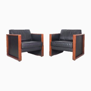 Vintage Leather Lounge Chairs from Walter Knoll / Wilhelm Knoll, 1970s, Set of 2