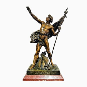 19th Century Oath Sculpture by Émile Louis Picault