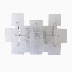 Mid-Century Eisglas Wandlampen von Kalmar Franken KG, 1960er, 2er Set