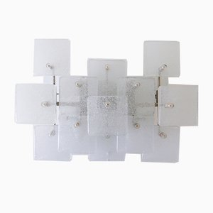 Mid-Century Ice Glass Sconces from Kalmar Franken KG, 1960s, Set of 2