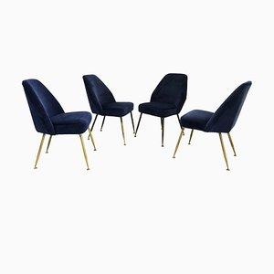 Italienische Campanula Stühle von Carlo Pagani für Arflex, 1950er, 4er Set