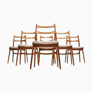 Mid-Century Teak Dining Chairs from Habeo, 1960s, Set of 6