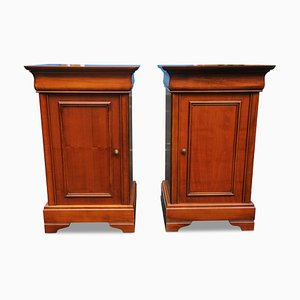 Cherrywood Nightstands, 1920s, Set of 2