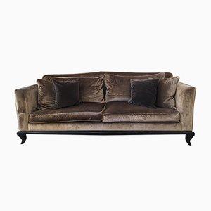 Velvet Sofa, 1980s