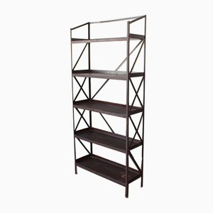 Vintage Handmade Steel Factory Shelf