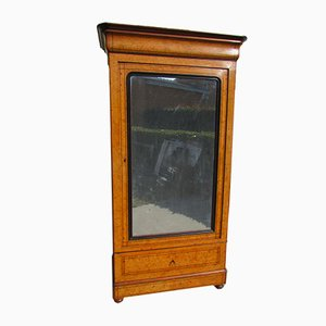Antique Louis Philippe Elm and Burl Elm Wardrobe, 1900s