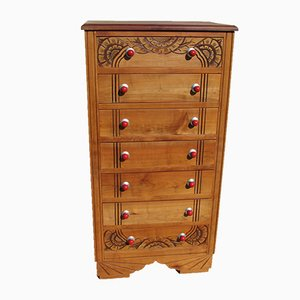 Art Deco Cherrywood Chest of Drawers