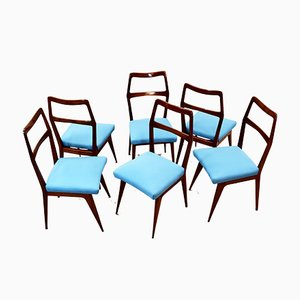 Italian Vintage Chairs, 1950s, Set of 6