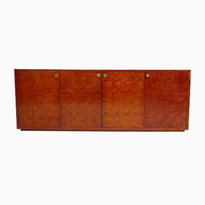 Vintage Bamboo Marquetry Sideboard
