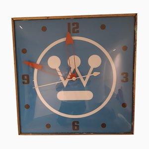 Mid-Century Westinghouse Logo Uhr von Rand für Pam Clock Company, 1960er