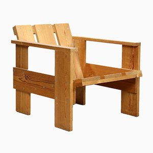 Mid-Century Dutch Crate Chair by Gerrit Rietveld, 1950s