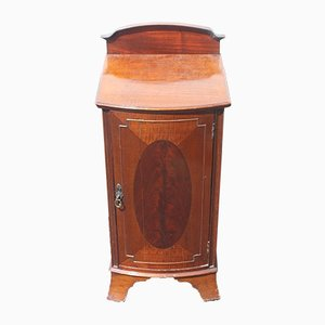 Mahogany Bow Front Bedside Cabinet, 1920s