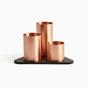 Copper Manhattan Desktop Organizer by Kerem Aris for Uniqka