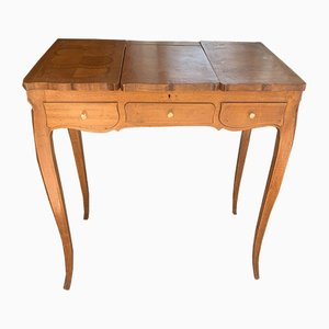 Antique Dressing Table with Inlaid Flap