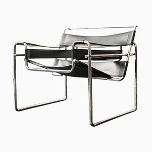 Model B3 Wassily Lounge Chairs by Marcel Breuer for Gavina, 1960s, Set of 2