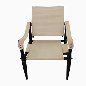 Mid-Century Danish Safari Armchair, 1950s
