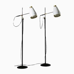 Model H801 Floor Lamps by Viljo Hirvonen for Valaistustyö, Finland, 1970s, Set of 2
