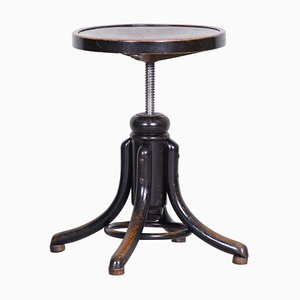 Art Deco Black Round Piano Chair from Thonet, 1920s