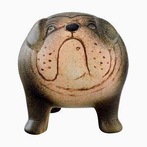 Bulldog in Glazed Ceramic by Lisa Larson for K-Studion & Gustavsberg