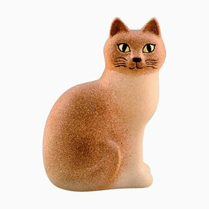 Cat in Glazed Ceramic by Lisa Larson for K-Studion & Gustavsberg