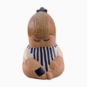 Glazed Ceramic Johanna Figurine by Lisa Larson for Gustavsberg