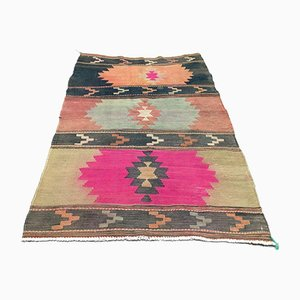 Turkish Traditional Wool Kilim Rug, 1960s