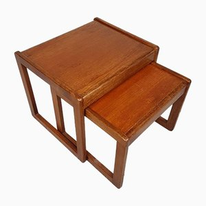 Mid-Century Danish Teak Nesting Tables from Bent Silberg Mobler, Set of 2